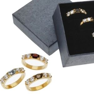 Jewelry - Genuine Gemstones 3 Rings Ring Set